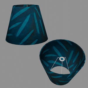 Conical Lamp Shade P99 - Resistance Dyed Teal Bamboo, 23cm(top) x 40cm(bottom) x 31cm(height)