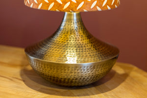 Small Patna Table Lamp with Conical Lamp Shade P12