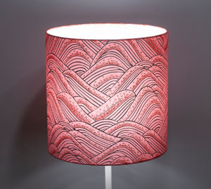 3 Tier Lamp Shade - W04 - Pink Hills with Gold Flowers, 40cm x 20cm, 30cm x 17.5cm & 20cm x 15cm