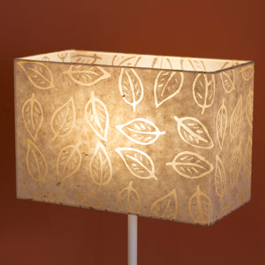Rectangle Lamp Shade - P28 - Batik Leaf on Natural, 30cm(w) x 20cm(h) x 15cm(d)