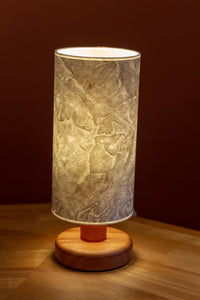 Sapele Table Lamp with Snowdonia 1840 Cassini Map Lamp Shade