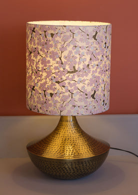 Small Patna Table Lamp with 30x30cm Lamp Shade W02
