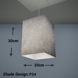Square Lamp Shade - P54 - Natural Lokta, 20cm(w) x 30cm(h) x 20cm(d)