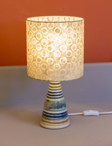Stoneware Table Lamp Base - Seafoam & Blue - P74 Natural Circles