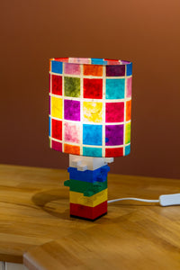Lego® Rainbow Table Lamp - Oval Lamp Shade P01