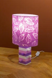 Lego® Lavender & Pink Table Lamp - Oval Lamp Shade P68