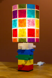 Lego® Rainbow Table Lamp - Drum Lamp Shade P01