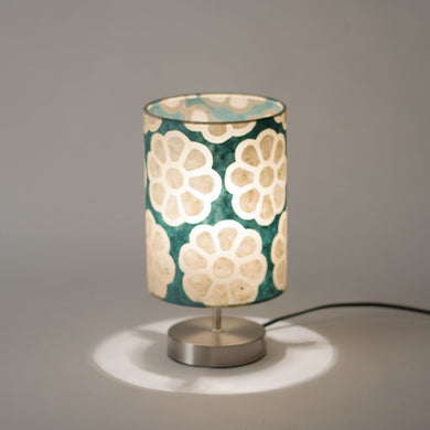 Round Touch activated Table Lamp Base with 15cm x 20cm Drum Lamp Shade P19