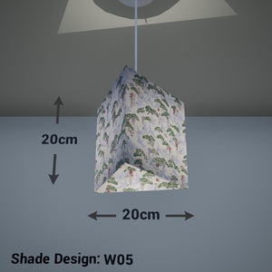 Triangle Lamp Shade - W05 ~ Cranes, 20cm(w) x 20cm(h) - Imbue Lighting