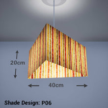 Triangle Lamp Shade - P06 - Batik Stripes Autumn, 40cm(w) x 20cm(h) - Imbue Lighting