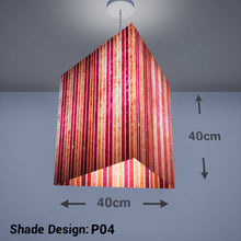Triangle Lamp Shade - P04 - Batik Stripes Pink, 40cm(w) x 40cm(h) - Imbue Lighting