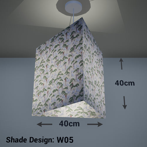 Triangle Lamp Shade - W05 ~ Cranes, 40cm(w) x 40cm(h) - Imbue Lighting