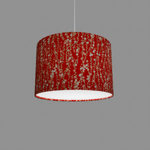 Drum Lamp Shade - W01 ~ Red Daisies, 30cm(d) x 20cm(h)