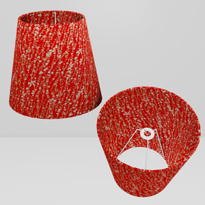 Conical Lamp Shade W01 - Red Daisies, 23cm(top) x 35cm(bottom) x 31cm(height)