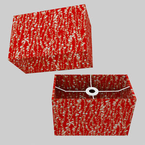 Rectangle Lamp Shade - W01 ~ Red Daisies, 30cm(w) x 20cm(h) x 15cm(d)