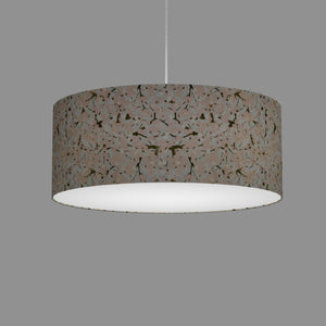 Drum Lamp Shade - W02 - Pink Cherry Blossom on Grey, 50cm(d) x 20cm(h)