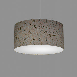 Drum Lamp Shade - W02 - Pink Cherry Blossom on Grey, 50cm(d) x 25cm(h)