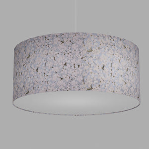 Drum Lamp Shade - W02 ~ Pink Cherry Blossom on Grey, 70cm(d) x 30cm(h)