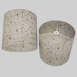 Drum Lamp Shade - W02 ~ Pink Cherry Blossom on Grey, 40cm(d) x 40cm(h)