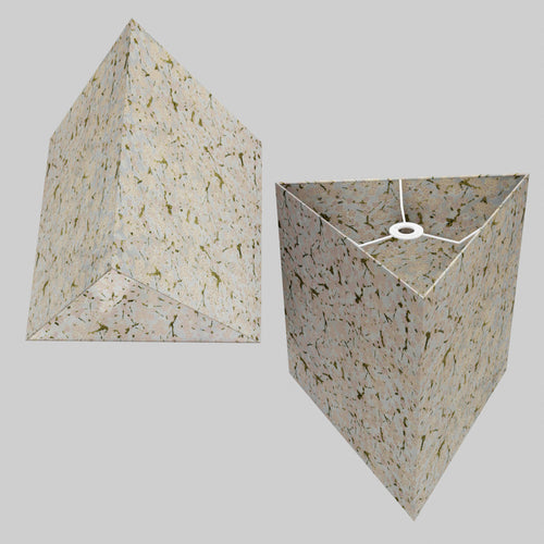 Triangle Lamp Shade - W02 ~ Pink Cherry Blossom on Grey, 40cm(w) x 40cm(h)