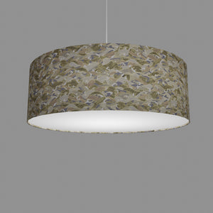 Drum Lamp Shade - W03 - Gold Waves on Greys, 60cm(d) x 20cm(h)