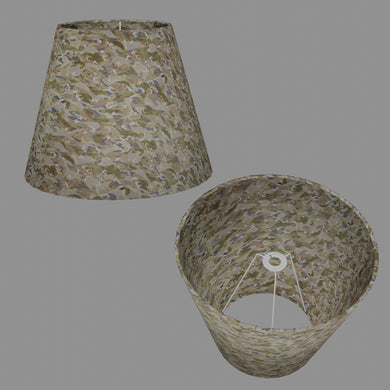 Conical Lamp Shade W03 - Gold Waves on Greys, 23cm(top) x 40cm(bottom) x 31cm(height)