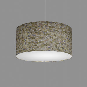 Drum Lamp Shade - W03 - Gold Waves on Greys, 50cm(d) x 25cm(h)