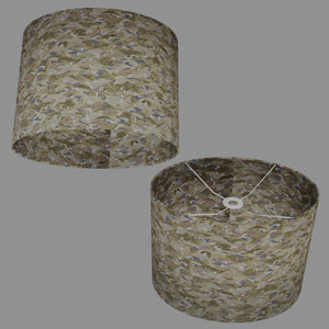 Oval Lamp Shade - W03 ~ Gold Waves on Greys, 40cm(w) x 30cm(h) x 30cm(d)