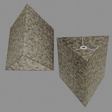 Triangle Lamp Shade - W03 ~ Gold Waves on Greys, 40cm(w) x 40cm(h)