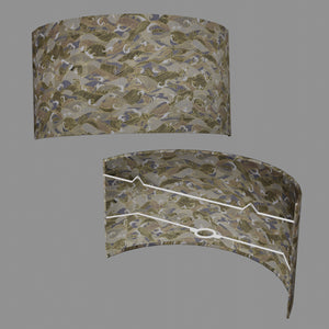 Wall Light - W03 - Gold Waves on Greys, 36cm(wide) x 20cm(h)