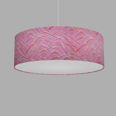Drum Lamp Shade - W04 - Pink Hills with Gold Flowers, 60cm(d) x 20cm(h)