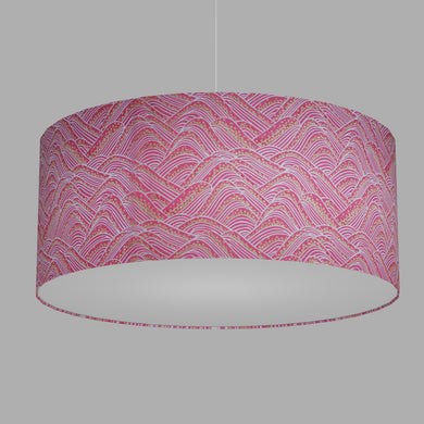 Drum Lamp Shade - W04 ~ Pink Hills with Gold Flowers, 70cm(d) x 30cm(h)