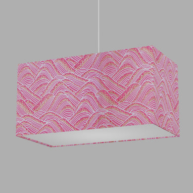Rectangle Lamp Shade - W04 ~ Pink Hills with Gold Flowers, 50cm(w) x 25cm(h) x 25cm(d)