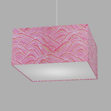 Square Lamp Shade - W04 ~ Pink Hills with Gold Flowers, 40cm(w) x 20cm(h) x 40cm(d)