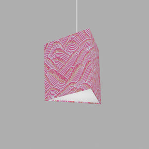 Triangle Lamp Shade - W04 ~ Pink Hills with Gold Flowers, 20cm(w) x 20cm(h)