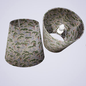 Conical Lamp Shade W05 - Cranes, 23cm(top) x 35cm(bottom) x 31cm(height)