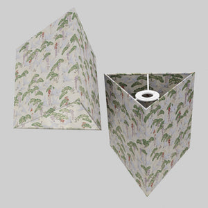 Triangle Lamp Shade - W05 ~ Cranes, 20cm(w) x 20cm(h)