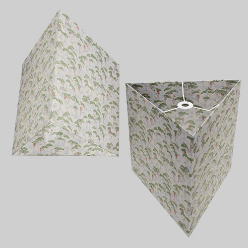 Triangle Lamp Shade - W05 ~ Cranes, 40cm(w) x 40cm(h)