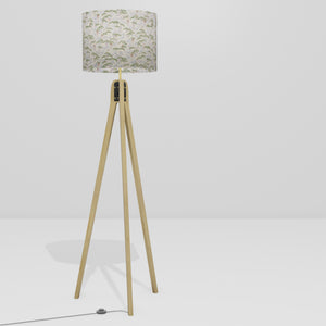Oak Tripod Floor Lamp - W05 ~ Cranes