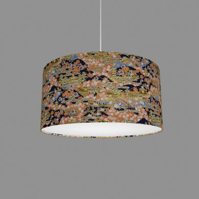 Drum Lamp Shade - W06 ~ Kyoto, 40cm(d) x 20cm(h)