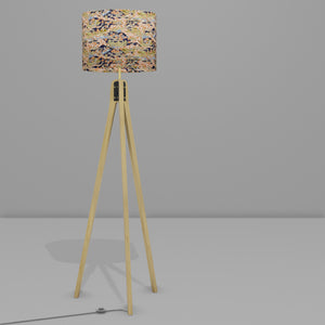 Oak Tripod Floor Lamp - W06 ~ Kyoto