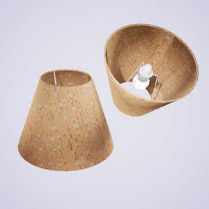 Conical Lamp Shade W07 - Peach Daisies, 15cm(top) x 30cm(bottom) x 22cm(height)