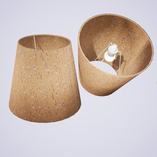 Conical Lamp Shade W07 - Peach Daisies, 23cm(top) x 35cm(bottom) x 31cm(height)
