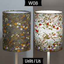 Triangle Lamp Shade - W08 ~ Lily Pond, 20cm(w) x 30cm(h)