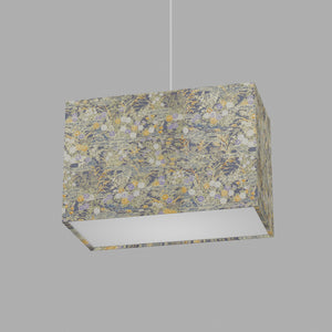 Rectangle Lamp Shade - W08 ~ Lily Pond, 30cm(w) x 20cm(h) x 15cm(d)