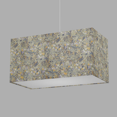 Rectangle Lamp Shade - W08 ~ Lily Pond, 50cm(w) x 25cm(h) x 25cm(d)