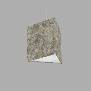 Triangle Lamp Shade - W08 ~ Lily Pond, 20cm(w) x 20cm(h)