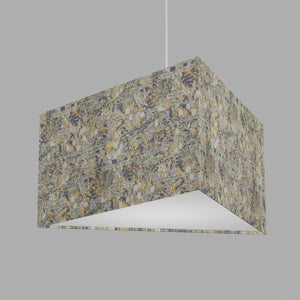 Triangle Lamp Shade - W08 ~ Lily Pond, 40cm(w) x 20cm(h)