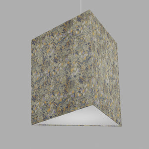 Triangle Lamp Shade - W08 ~ Lily Pond, 40cm(w) x 40cm(h)