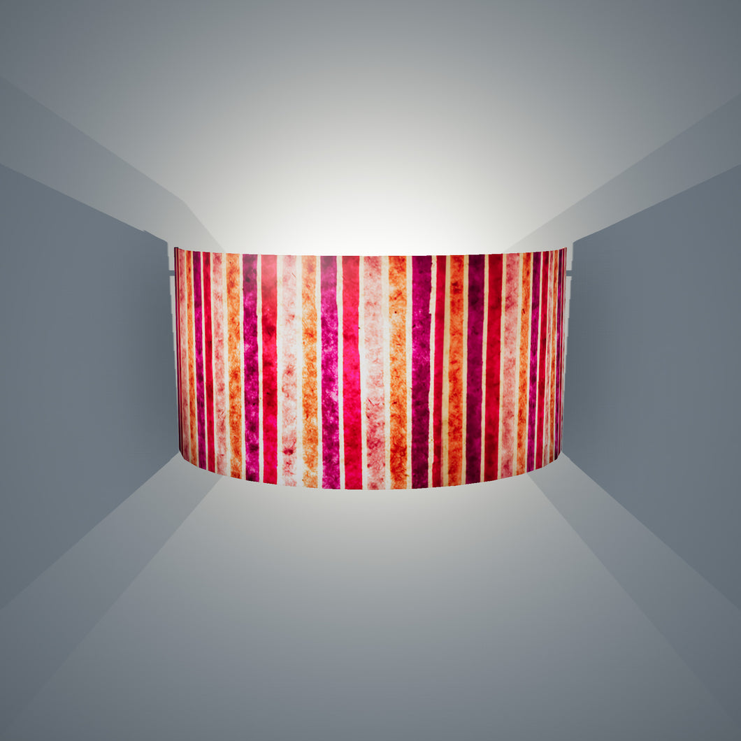 Wall Light - P04 - Batik Stripes Pink, 36cm(wide) x 20cm(h) - Imbue Lighting